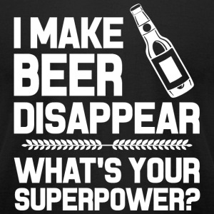 Beer - i make beer disappear what's your superpo - Men's T-Shirt by American Apparel