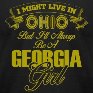 GEORGIA - I MIGHT LIVE IN OHIO BUT I'LL ALWAYS B - Men's T-Shirt by American Apparel