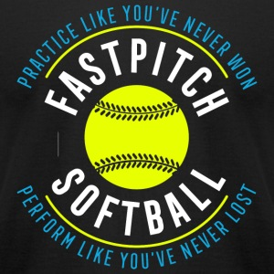 Softball - Fastpitch Softball - Men's T-Shirt by American Apparel