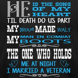 Veteran - I Married A Veteran T Shirt - Men's T-Shirt by American Apparel