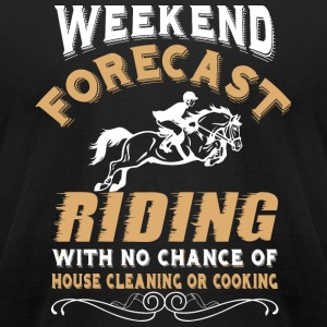 Riding - Weekend Forecast Riding T Shirt - Men's T-Shirt by American Apparel