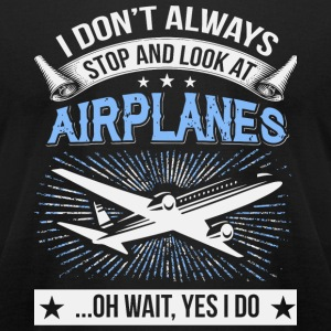 Airplane - Look At Airplanes T Shirt - Men's T-Shirt by American Apparel