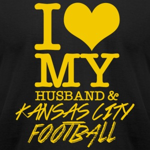 Kansas City - I Love My Husband & Kansas City Fo - Men's T-Shirt by American Apparel