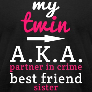 Tmin - My Tmin A.K.A Partner In Crime Best Frien - Men's T-Shirt by American Apparel