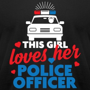 Police Officer - This girl Police Officer - Men's T-Shirt by American Apparel