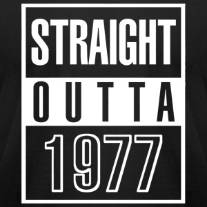 1977 - Funny Straight Outta 1977 40th Years Old - Men's T-Shirt by American Apparel
