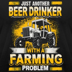 Beer Beer Drinker Farming Problem - Men's T-Shirt by American Apparel
