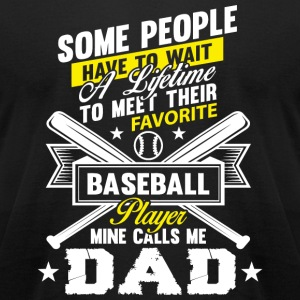 Baseball Dad - Baseball Dad Player T Shirt - Men's T-Shirt by American Apparel