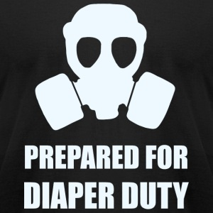 Diaper - Prepared for Diaper Duty - Men's T-Shirt by American Apparel
