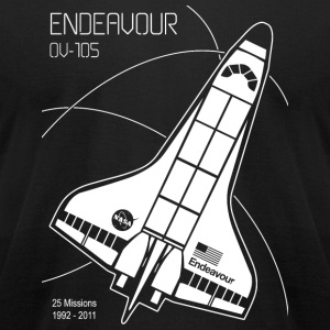Space Shuttle Endeavour - Space Shuttle Endeavou - Men's T-Shirt by American Apparel