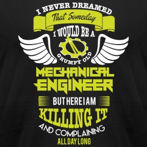 Mechanical Engineer - Grumpy Old Mechanical Engi - Men's T-Shirt by American Apparel