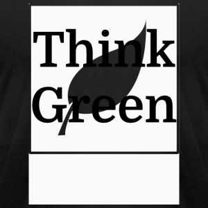 Change - Think Green - Men's T-Shirt by American Apparel