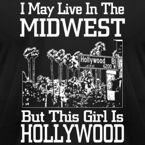 Hollywood - i may live in the midwest but this g - Men's T-Shirt by American Apparel