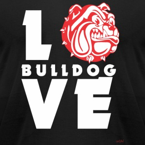 Bulldog - Love Bulldog! - Men's T-Shirt by American Apparel