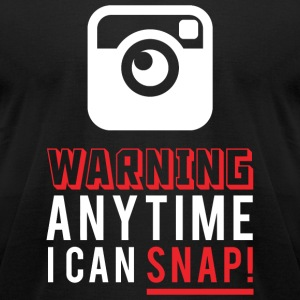 Snap - WARNING ANY TIME I CAN SNAP - Men's T-Shirt by American Apparel