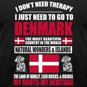 Danish - Danish - Denmark Therapy - Men's T-Shirt by American Apparel