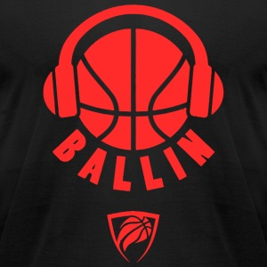 Ballin - Ballin Headphones Basketball - Men's T-Shirt by American Apparel