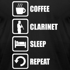 Clarinet - Coffee Clarinet Sleep Repeat Funny - Men's T-Shirt by American Apparel