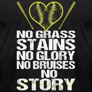 Baseball - No Grass Stains No Glory No Bruises N - Men's T-Shirt by American Apparel