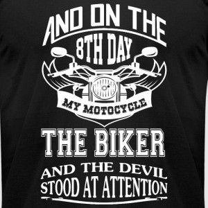 Biker - The Biker - Men's T-Shirt by American Apparel