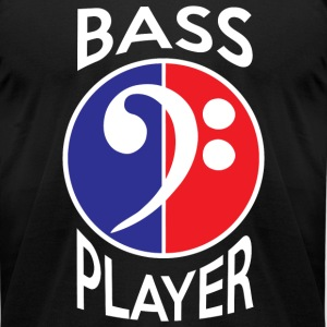 Bass Player - Bass Player in Red White and Blue - Men's T-Shirt by American Apparel