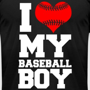 Baseball - i love my baseball boy - Men's T-Shirt by American Apparel