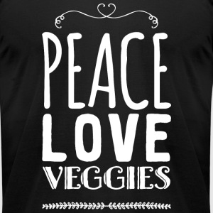 Vegetarian - Peace love veggies - Men's T-Shirt by American Apparel