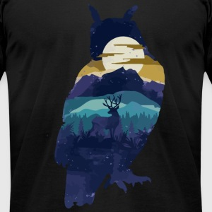 Owl - Owl Night - Men's T-Shirt by American Apparel