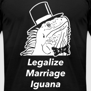 Legalize marijuana - Legalize Marriage Iguana - Men's T-Shirt by American Apparel