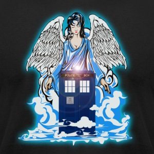 Angel has Blue Phone Booth - Men's T-Shirt by American Apparel