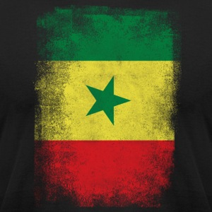 Senegal Flag Proud Senegalese Vintage Distressed - Men's T-Shirt by American Apparel