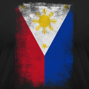 Philippines Flag Proud Filipino Vintage Distressed - Men's T-Shirt by American Apparel