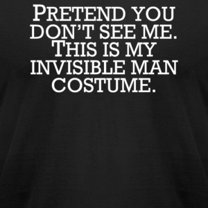 Invisible Man Costume Pretend You Don't See Me - Men's T-Shirt by American Apparel