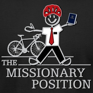 The Missionary Position (Dark) - Men's T-Shirt by American Apparel