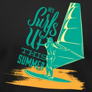 Surf's Up Summer Design - Men's T-Shirt by American Apparel