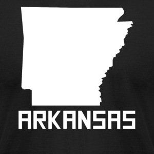 Arkansas State Silhouette - Men's T-Shirt by American Apparel