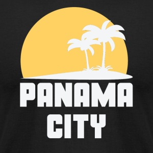 Panama City Florida Sunset Palm Trees Beach - Men's T-Shirt by American Apparel