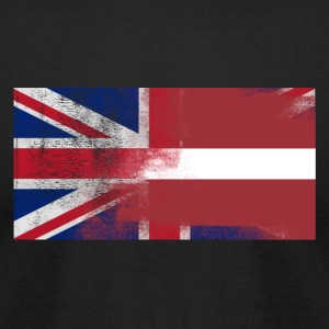 British Latvian Half Latvia Half UK Flag - Men's T-Shirt by American Apparel