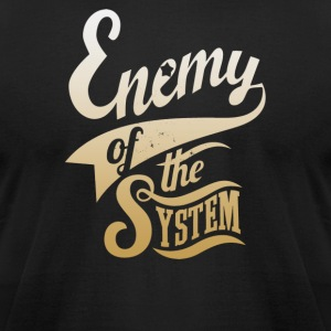 Enemy of The System - Men's T-Shirt by American Apparel