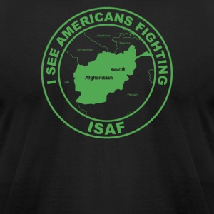 I See Americans Fighting - Men's T-Shirt by American Apparel