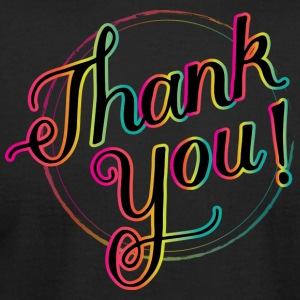 thank you! - Men's T-Shirt by American Apparel