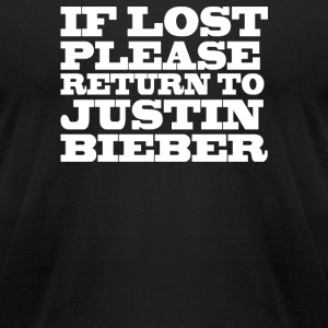 If lost please return - Men's T-Shirt by American Apparel