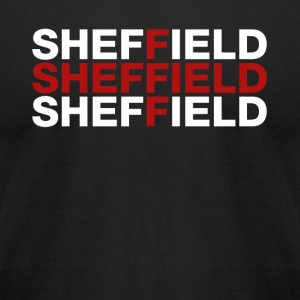 Sheffield United Kingdom Flag Shirt - Sheffield T- - Men's T-Shirt by American Apparel