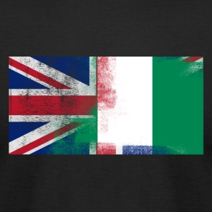British Nigerian Half Nigeria Half UK Flag - Men's T-Shirt by American Apparel