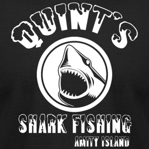 quints shark fishing amity island - Men's T-Shirt by American Apparel