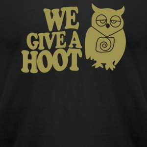 We Give a Hoot Owl - Men's T-Shirt by American Apparel