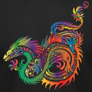 Colorful Dragon - Men's T-Shirt by American Apparel