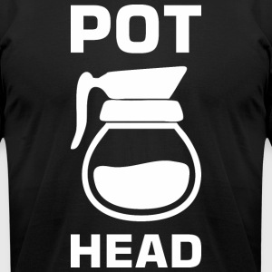 Pot Head Coffee Tea Lover - Men's T-Shirt by American Apparel