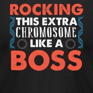 ROCKING THIS EXTRA CHROMOSOME LIKE A BOSS - Men's T-Shirt by American Apparel