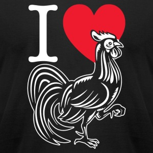 I LOVE COCK COMEDY FUNNY HEN DO JOKE MENS LADIES T - Men's T-Shirt by American Apparel